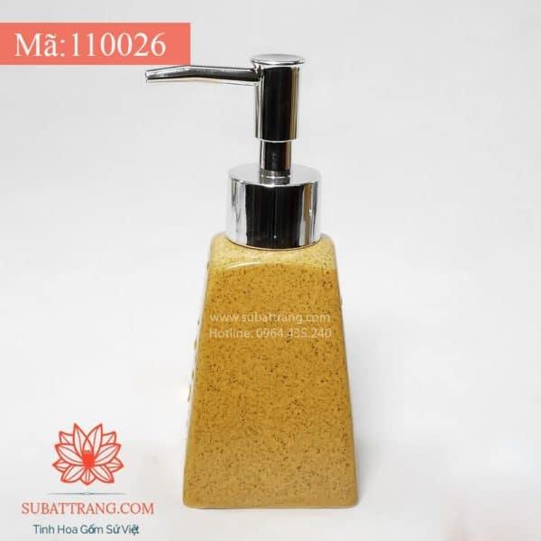Bình Đựng Dầu Gội Sữa Tắm Khách Sạn Dáng Thang Men Cát Vàng 200ml - 110026