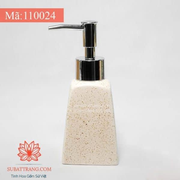 Bình Đựng Dầu Gội Sữa Tắm Khách Sạn Thang Men Cát Trắng 200ml - 110024