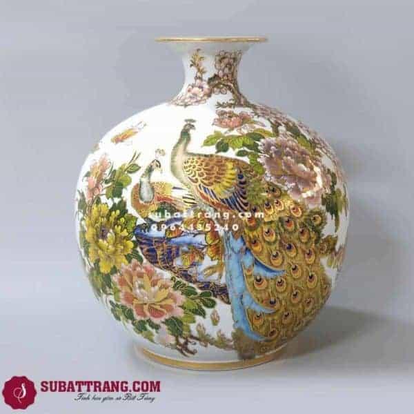 Bình Hút Lộc Phong Thủy Chim Công Hoa Mẫu Đơn - 120034