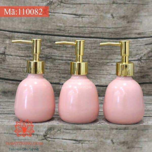 Bình Sữa Tắm Dáng Trứng Men Hồng - 110082