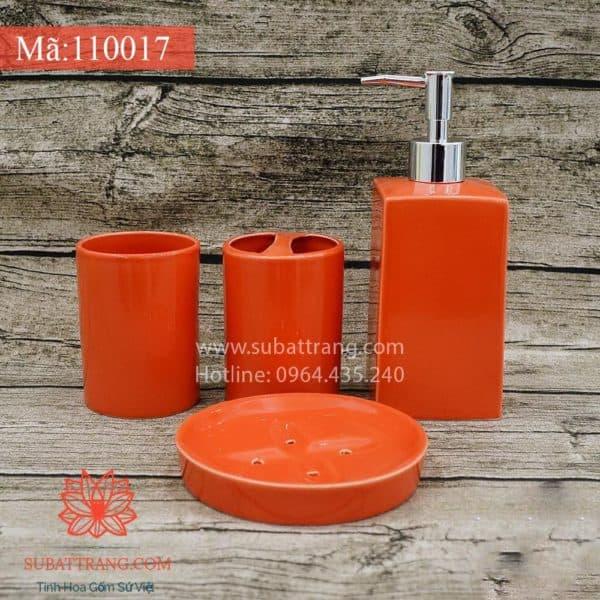 Bình Sữa Tắm Đầy Đủ Men Đỏ - 110017