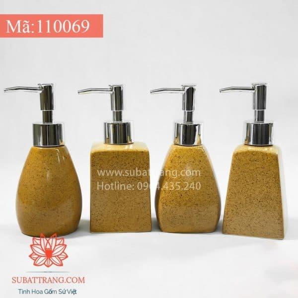 Bộ 4 Bình Sữa Tắm Men Cát Vàng - 110069