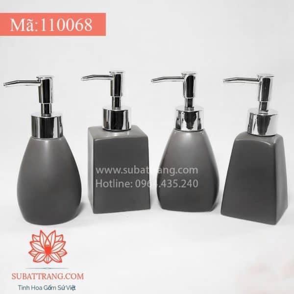 Bộ 4 Bình Sữa Tắm Men Ghi Mát - 110068