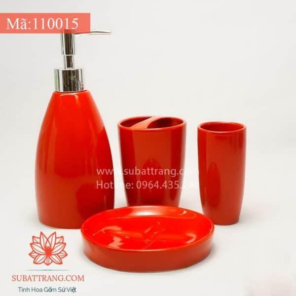 Bộ Bình Sữa Tắm Đầy Đủ Men Đỏ - 110015