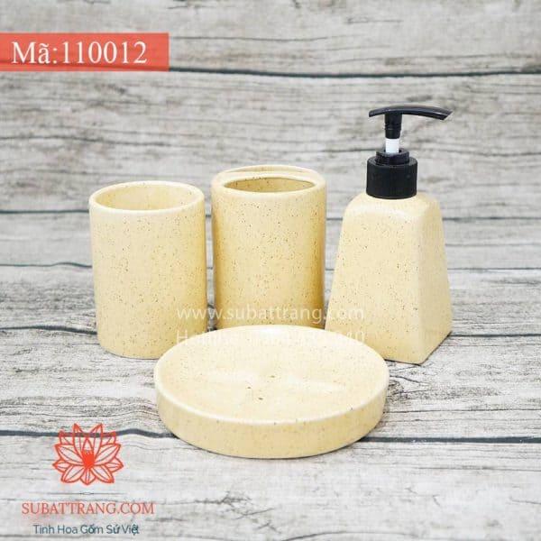 Bộ Bình Sữa Tắm Men Kem Đầy Đủ - 110012