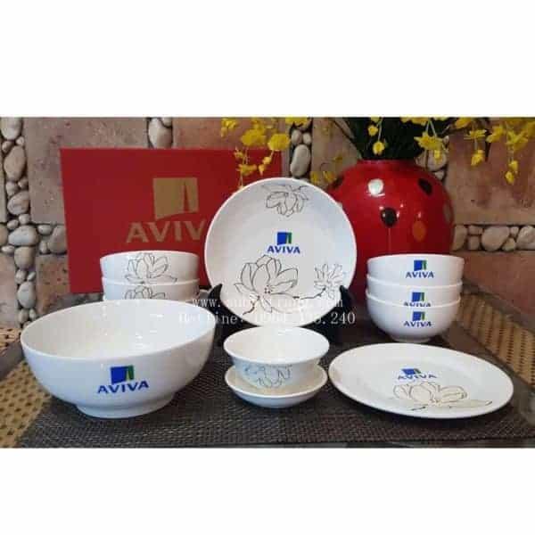 Bộ Đồ Ăn In Logo Quà Tặng Mẫu - 130054