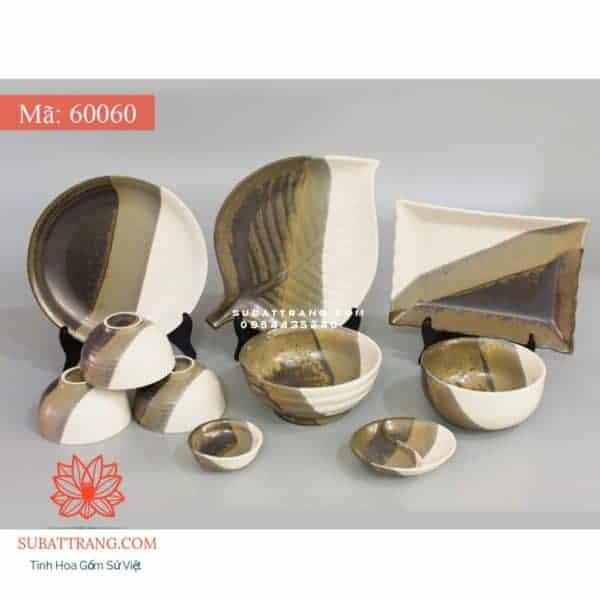 Bộ Đồ Ăn Men Ba Màu - 60060