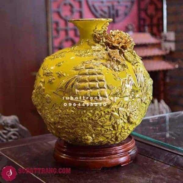 Bóng Hút Lộ Vẽ Vàng Thuân Buồm Xuôi Gió Cao 35cm - 120013