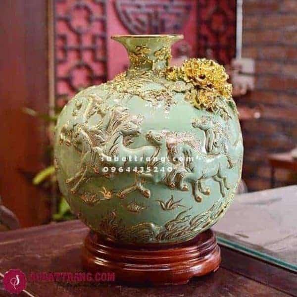 Bóng Hút Lộc Bát Mã Vẽ Vàng Cao 30cm - 120040