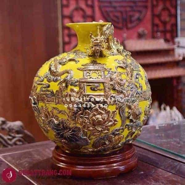 Bóng Hút Lộc Cá Chép Hoá Rồng Vẽ Vàng Cao 40cm - 120037