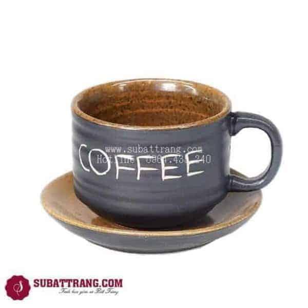 Cốc Café Gốm Nâu - 100073