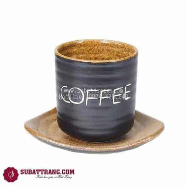 Cốc Café Gốm Nâu - 100074