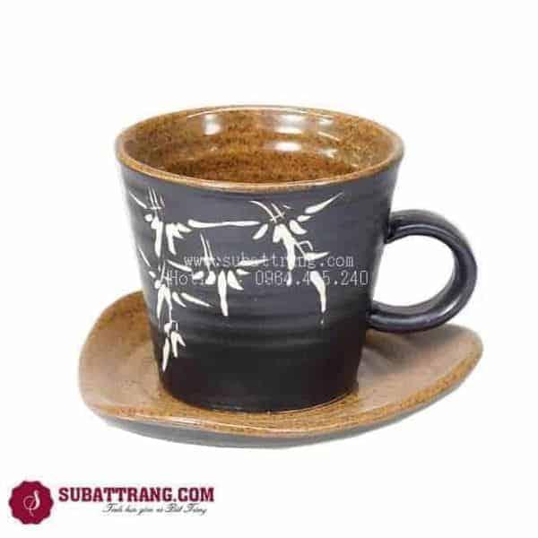 Cốc Café Gốm Nâu - 100077