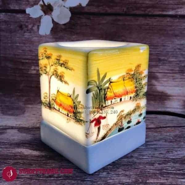 Đèn Xông Tinh Bằng Điện Dáng Vuông Phong Cảnh - 90046