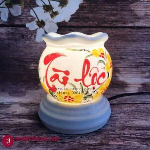 Đèn Xông Tinh Dầu Bằng Điện Chữ Tài Lộc Dáng Lượn - 90042