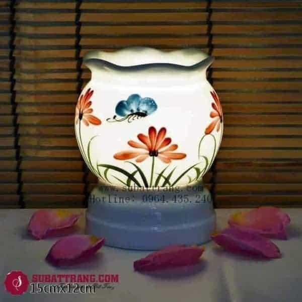 Đèn Xông Tinh Dầu Bằng Điện Hoa Bướm Dáng Lượn - 90063