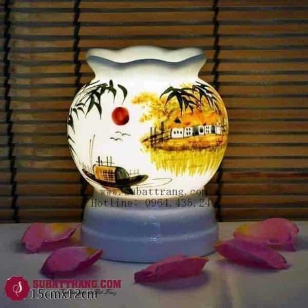 Đèn Xông Tinh Dầu Bằng Điện Quê Hương Dáng Lượn - 90061