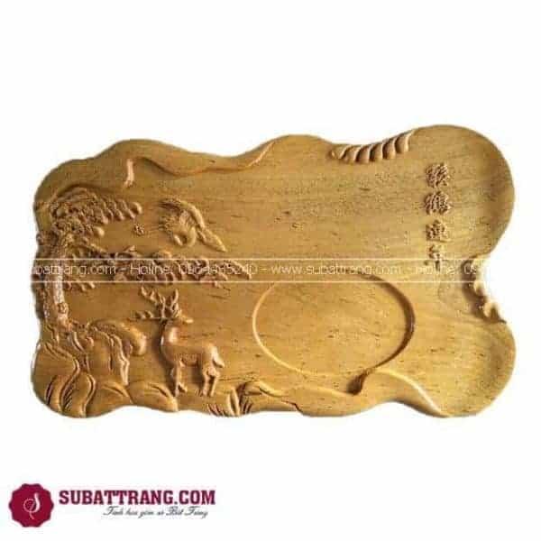 Khay Trà Gỗ Cao Cấp Khắc - 140019