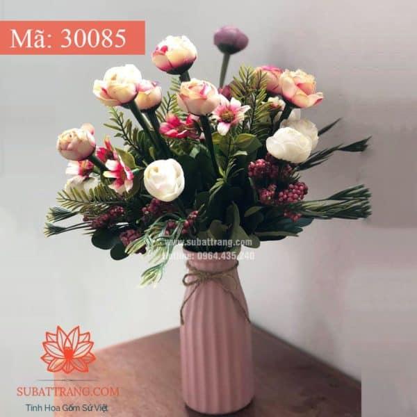 Lọ Hoa Dáng Dọc Hồng - 30085