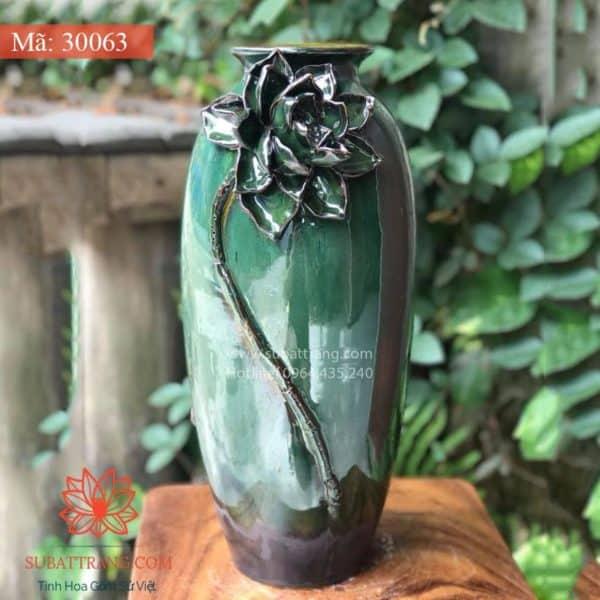 Lọ Hoa Men Hỏa Biến Dáng Bom - 30061