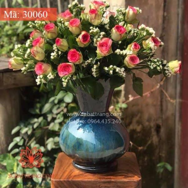 Lọ Hoa Men Hỏa Biến Dáng Giỏ Cua - 30060