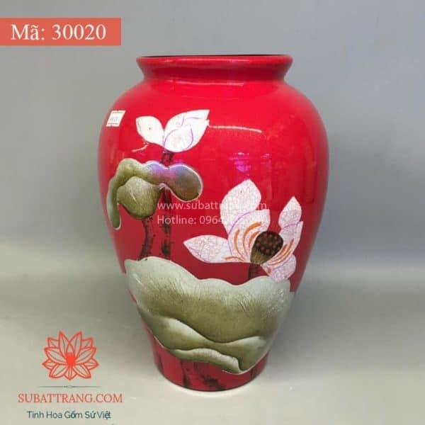 Lọ Hoa Sơn Mài Hoa Sen - 30016