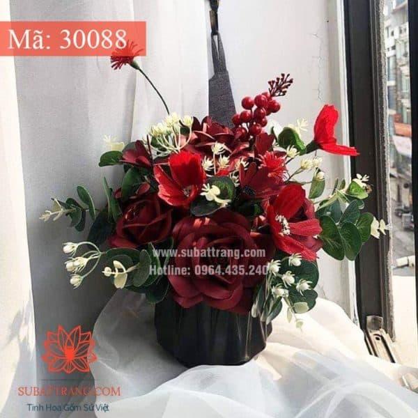 Lọ Hoa Túm Miệng To Men Mát - 30088