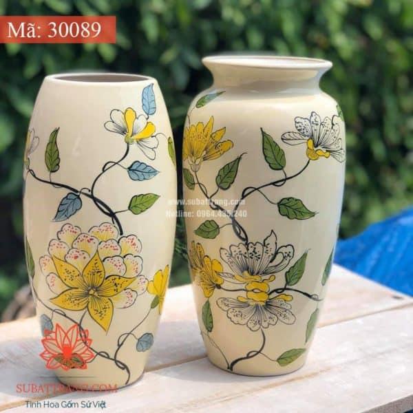 Lọ Hoa Vẽ Tay Thủ Công - 30089