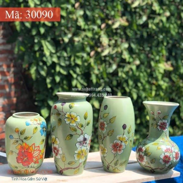 Lọ Hoa Vẽ Tay Thủ Công - 30090