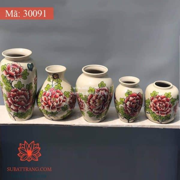Lọ Hoa Vẽ Tay Thủ Công - 30091