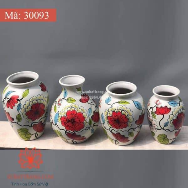 Lọ Hoa Vẽ Tay Thủ Công - 30093