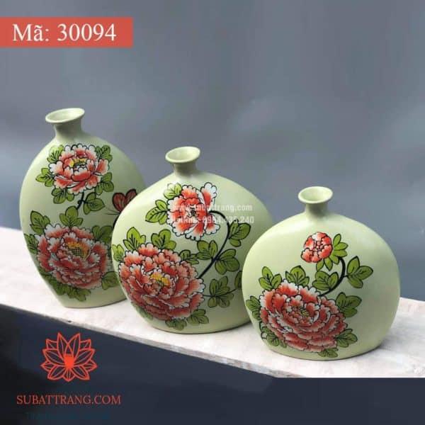Lọ Hoa Vẽ Tay Thủ Công - 30094