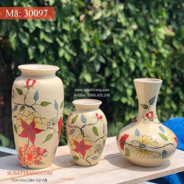 Lọ Hoa Vẽ Tay Thủ Công - 30097