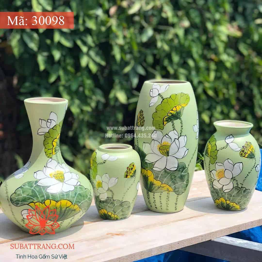 Lọ Hoa Vẽ Tay Thủ Công - 30098