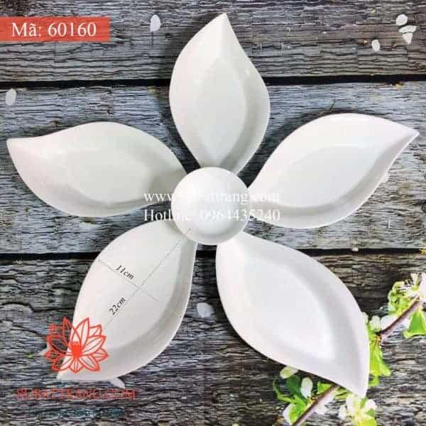 Set Đĩa Ăn Trắng Thuyền Hoa - 60160