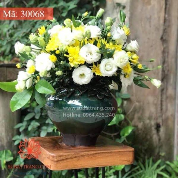 Vò Cắm Hoa Men Hỏa Biến - 30068