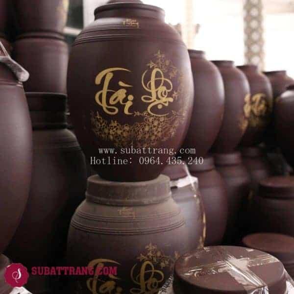 Vò Ngâm Rượu Không Tráng Men Tài Lộc 5L - 50001