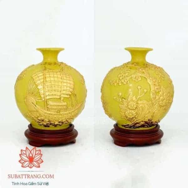 Bình Hút Lộc Thuận Buồm Xuôi Gió Dát Vàng 22cm - 120081