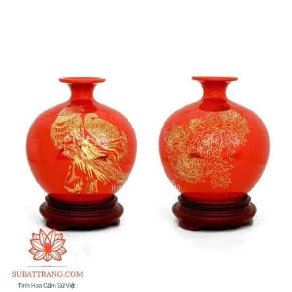 Bình Hút Lộc Vẽ Vàng Kim 22cm - 120079