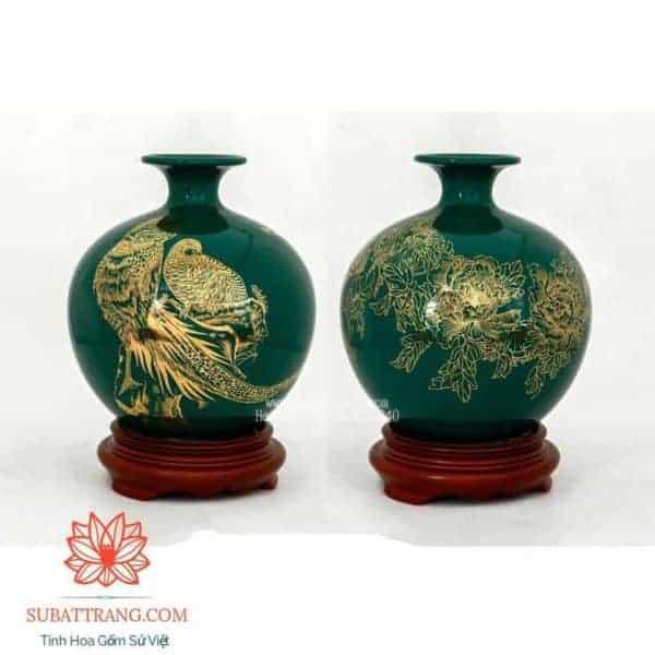 Bình Hút Lộc Vẽ Vàng Kim 22cm - 120080