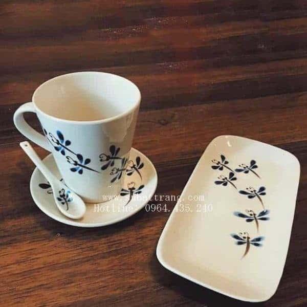 Bộ Cốc Café Kèm Khay Bánh - 100081