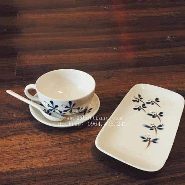 Bộ Cốc Café Kèm Khay Bánh - 100082