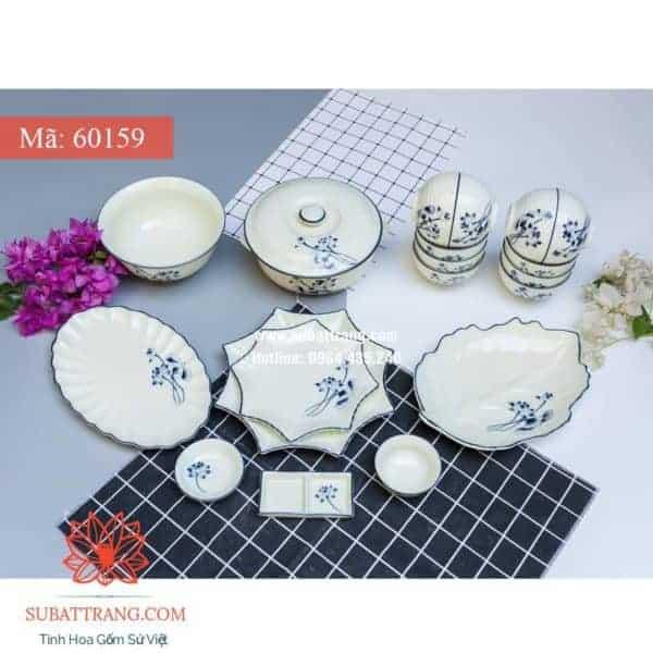 Bộ Đồ Ăn Sen Men Kem - 60159