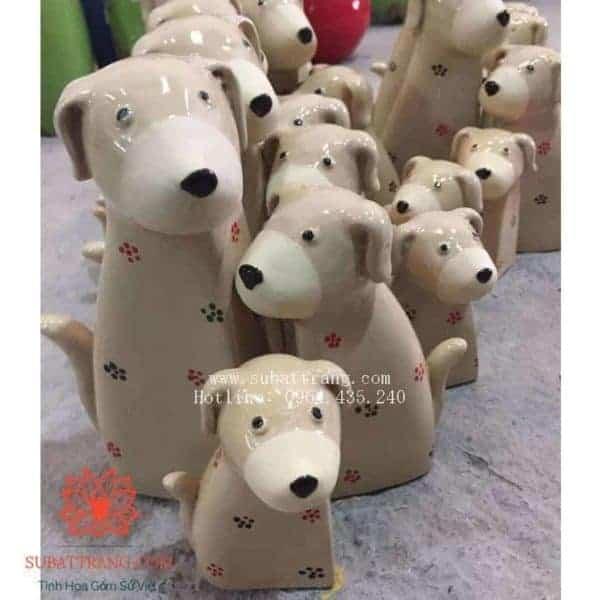 Bộ Tượng Con Giống Chó 3 Con Nhỏ - 200036