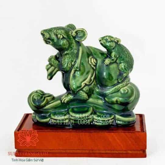 Chuột Phong Thủy Đế Gỗ - 200025