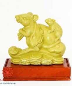 Chuột Phong Thủy Đế Gỗ - 200027
