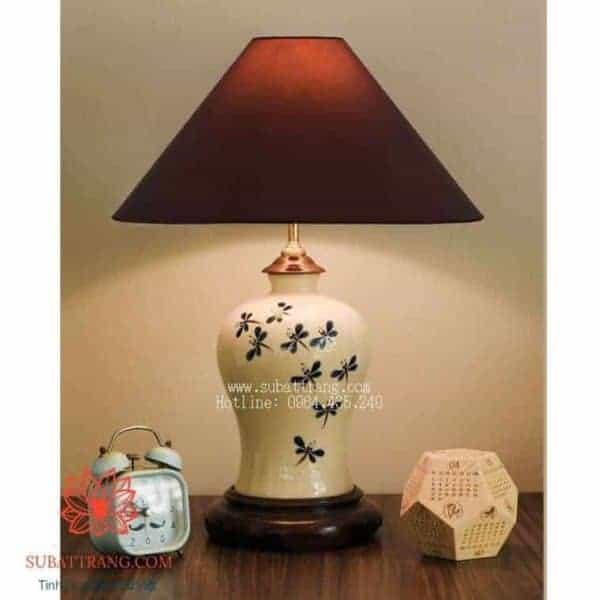 Đèn Sứ Vẽ Chuồn chuồn Xanh - 150046