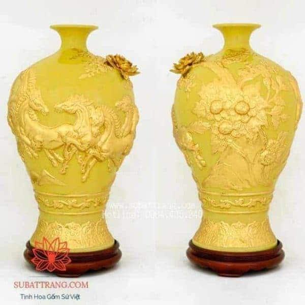 Mai Bình Mã Đáo Thành Công Dát Vàng 50cm - 120089
