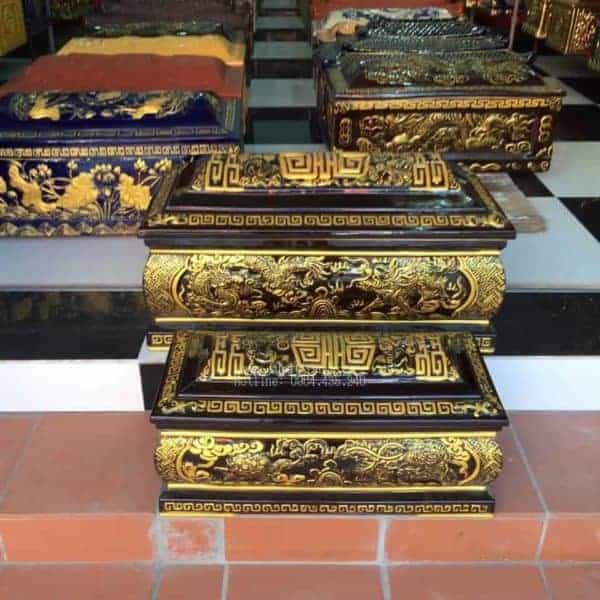 Quách Tiểu Mái Vòm Họa Tiết Rồng Nhũ Vàng Nổi  - 190030