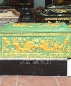 Quách Tiểu Mái Vòm Họa Tiết Sen Men Xanh Nhũ Vàng - 190023